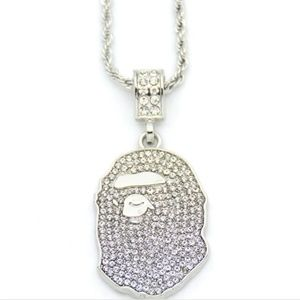 Other - A Bathing Ape Chain. Bape Necklace Supreme Silver